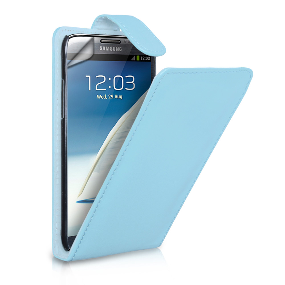 YouSave Samsung Galaxy Note 2 Leather Effect Flip Case -  Light Blue