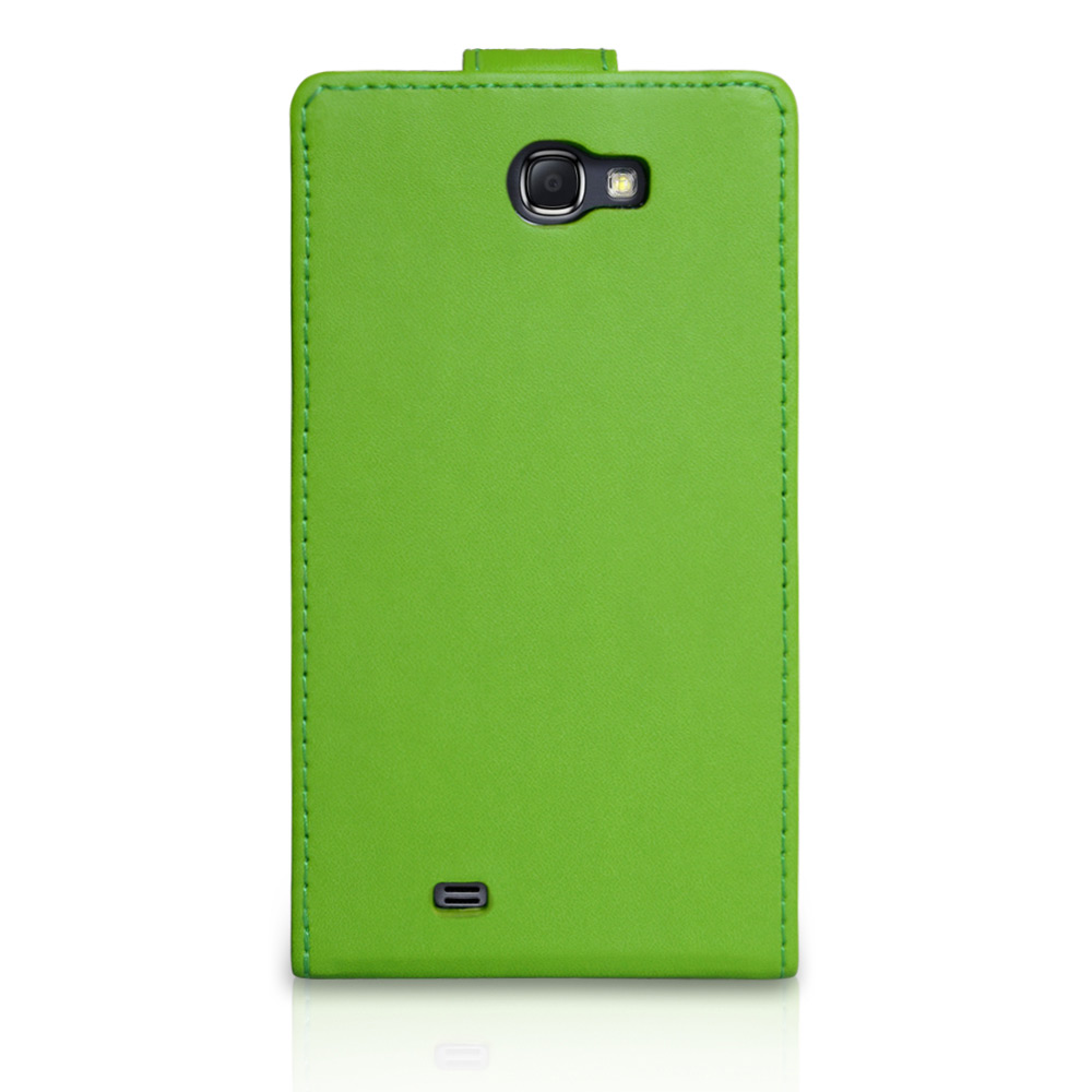 YouSave Samsung Galaxy Note 2 Green Leather Effect Flip Case