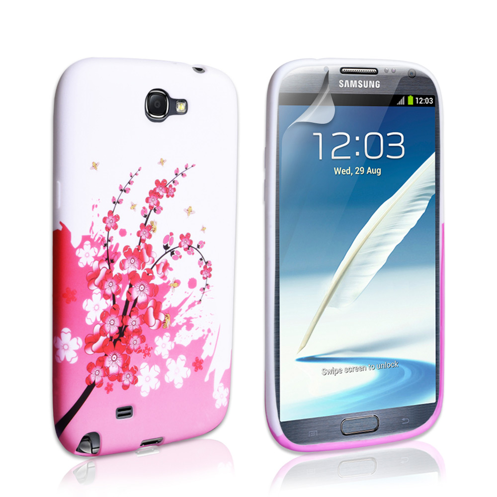 YouSave Accessories Samsung Galaxy Note 2 Silicone Floral Bee Case