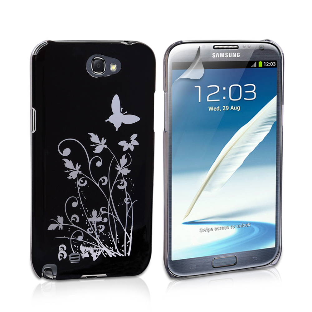 YouSave Accessories Samsung Galaxy Note 2 Butterfly IMD Case Black