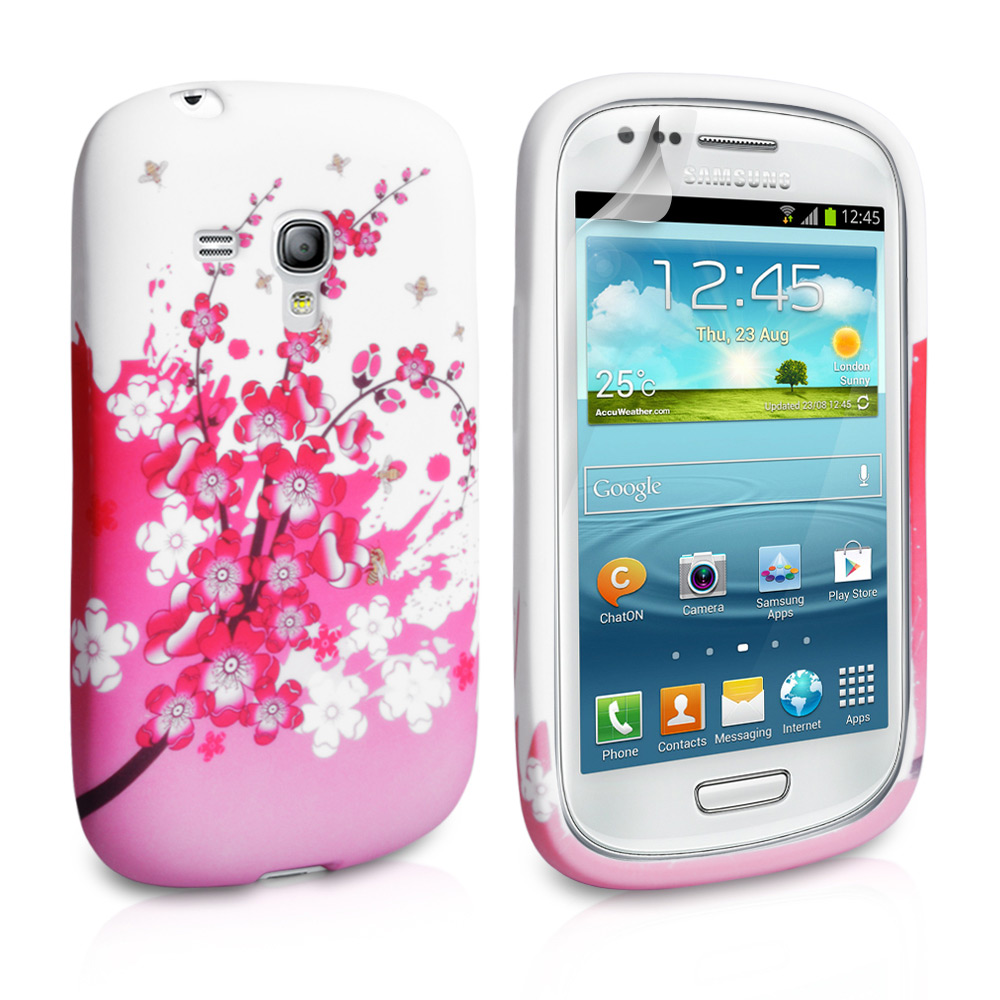 YouSave Samsung Galaxy S3 Mini Floral Bee Silicone Gel Case