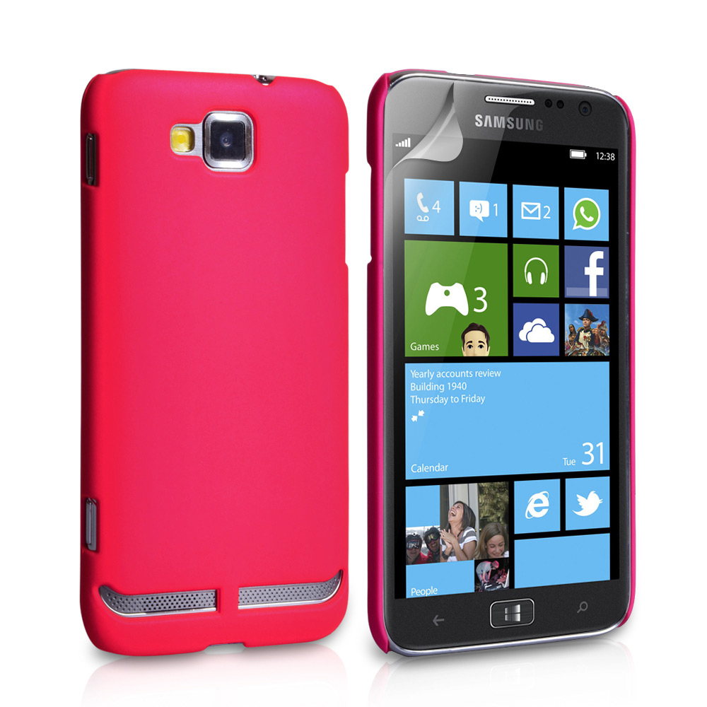 YouSave Accessories Samsung Ativ S Hot Pink Hard Hybrid Case