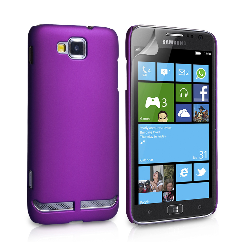 YouSave Accessories Samsung Ativ S Hard Hybrid Case - Purple