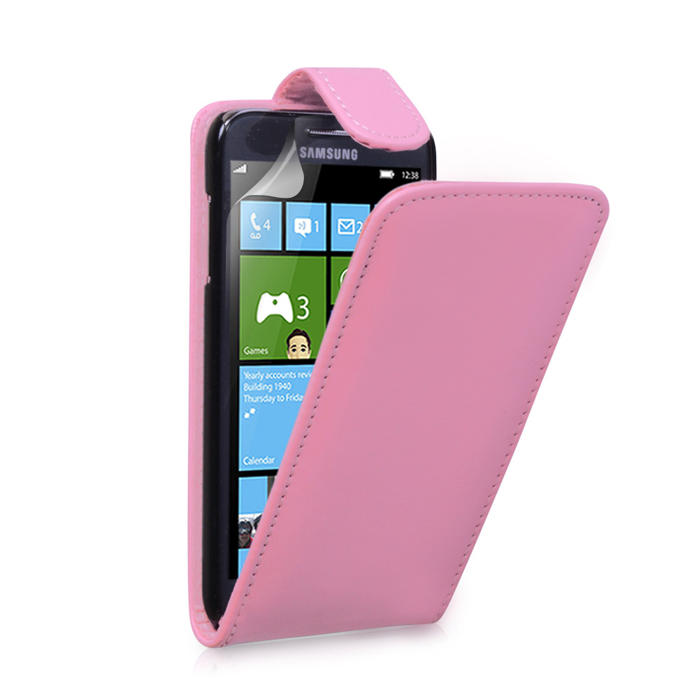 YouSave Samsung Ativ S Leather Effect Flip Case - Baby Pink