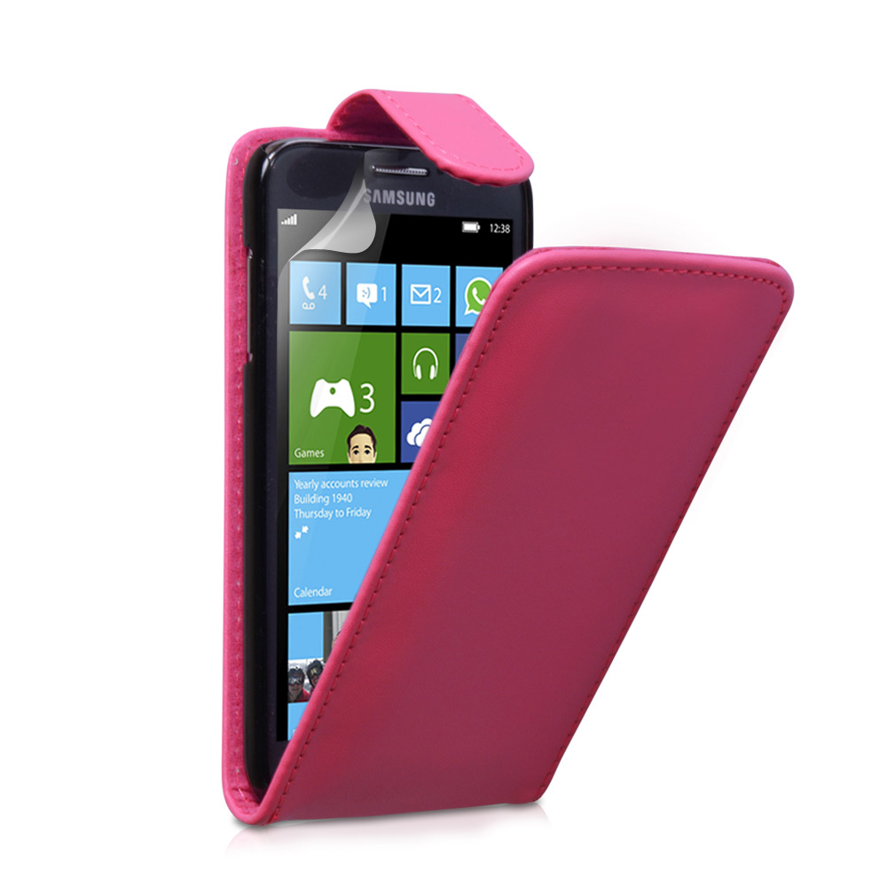 YouSave Accessories Samsung Ativ S Hot Pink Leather Effect Flip Case