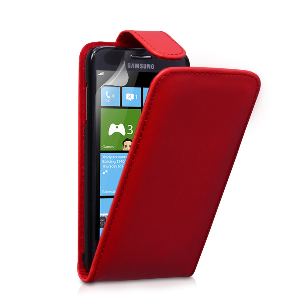 YouSave Accessories Samsung Ativ S Red Leather Effect Flip Case