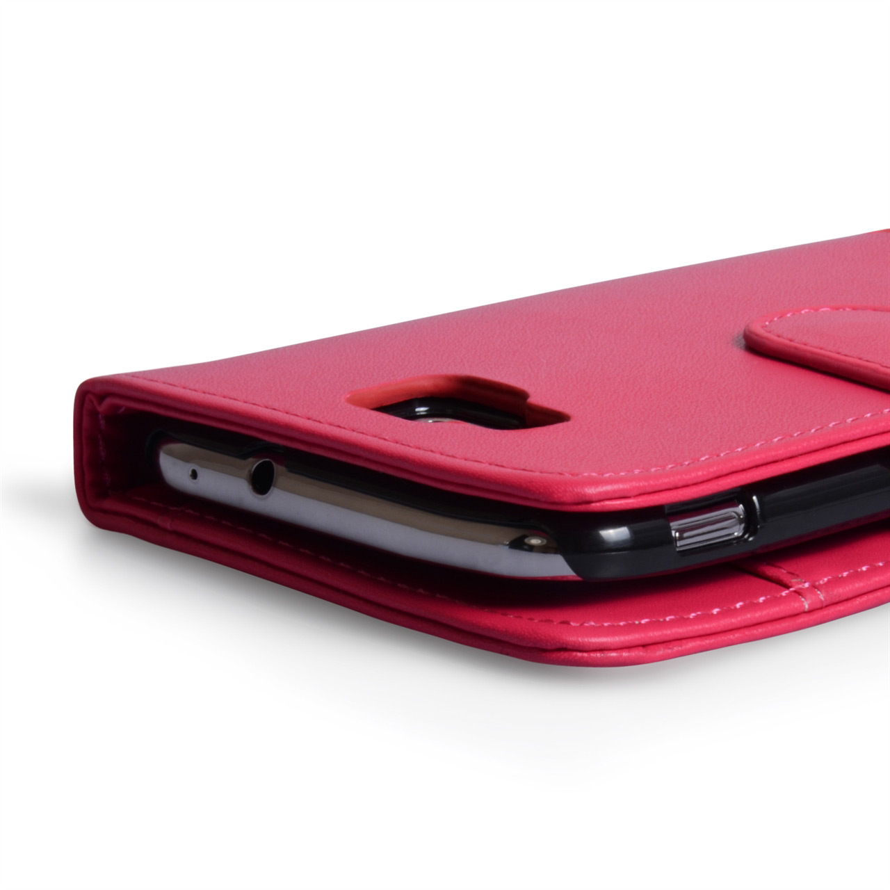 YouSave Accessories Samsung Ativ S Hot Pink Leather Effect Wallet Case
