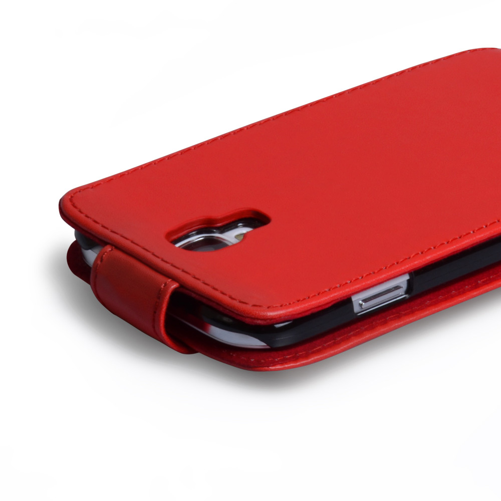 YouSave Accessories Samsung Galaxy S4 Leather Effect Flip Case - Red