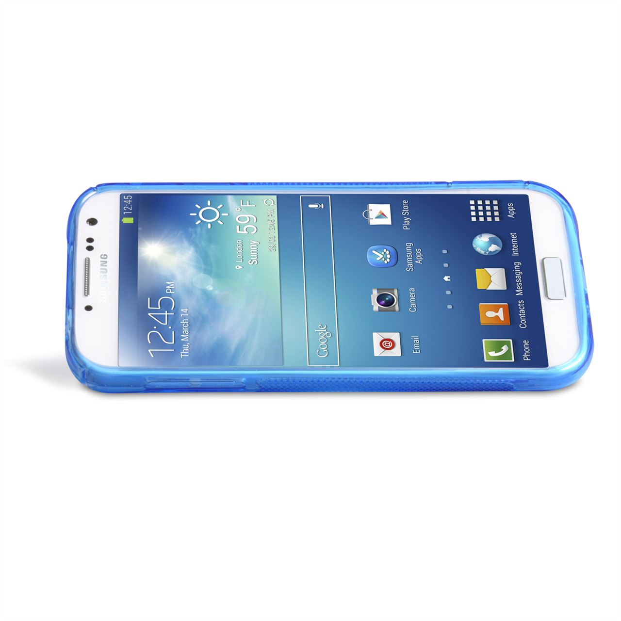 YouSave Accessories Samsung Galaxy S4 Blue Silicone Gel Stand Case