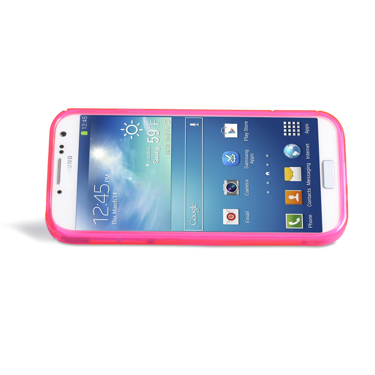 YouSave Samsung Galaxy S4 Silicone Gel Stand Case -  Hot Pink