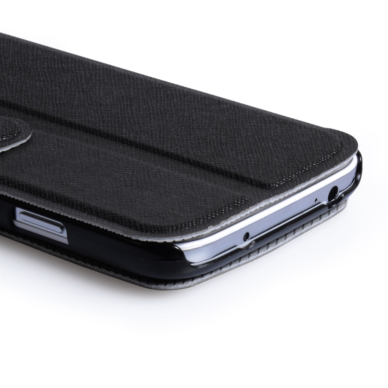 YouSave Samsung Galaxy S4 Leather Effect Wallet Stand Case - Black