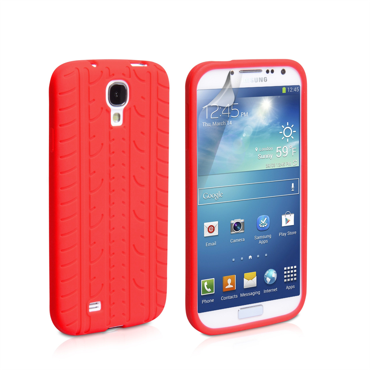 YouSave Accessories Samsung Galaxy S4 Tyre Gel Case - Red