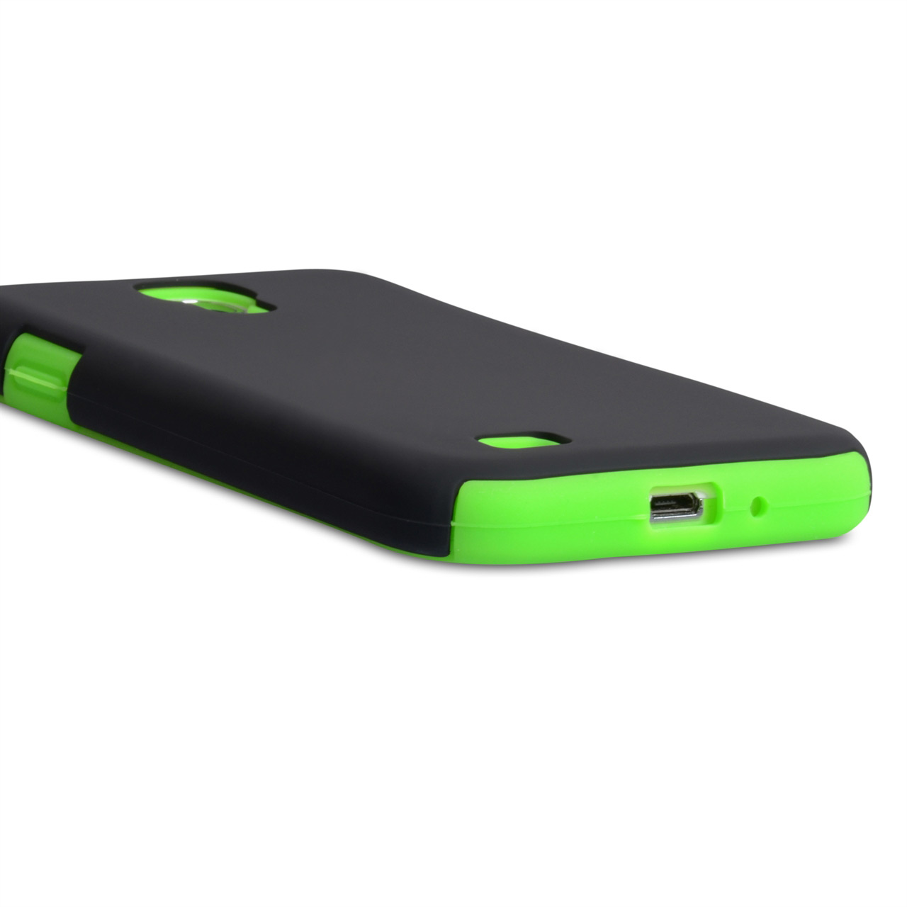YouSave Accessories Samsung Galaxy S4 Hybrid Combo Case - Green