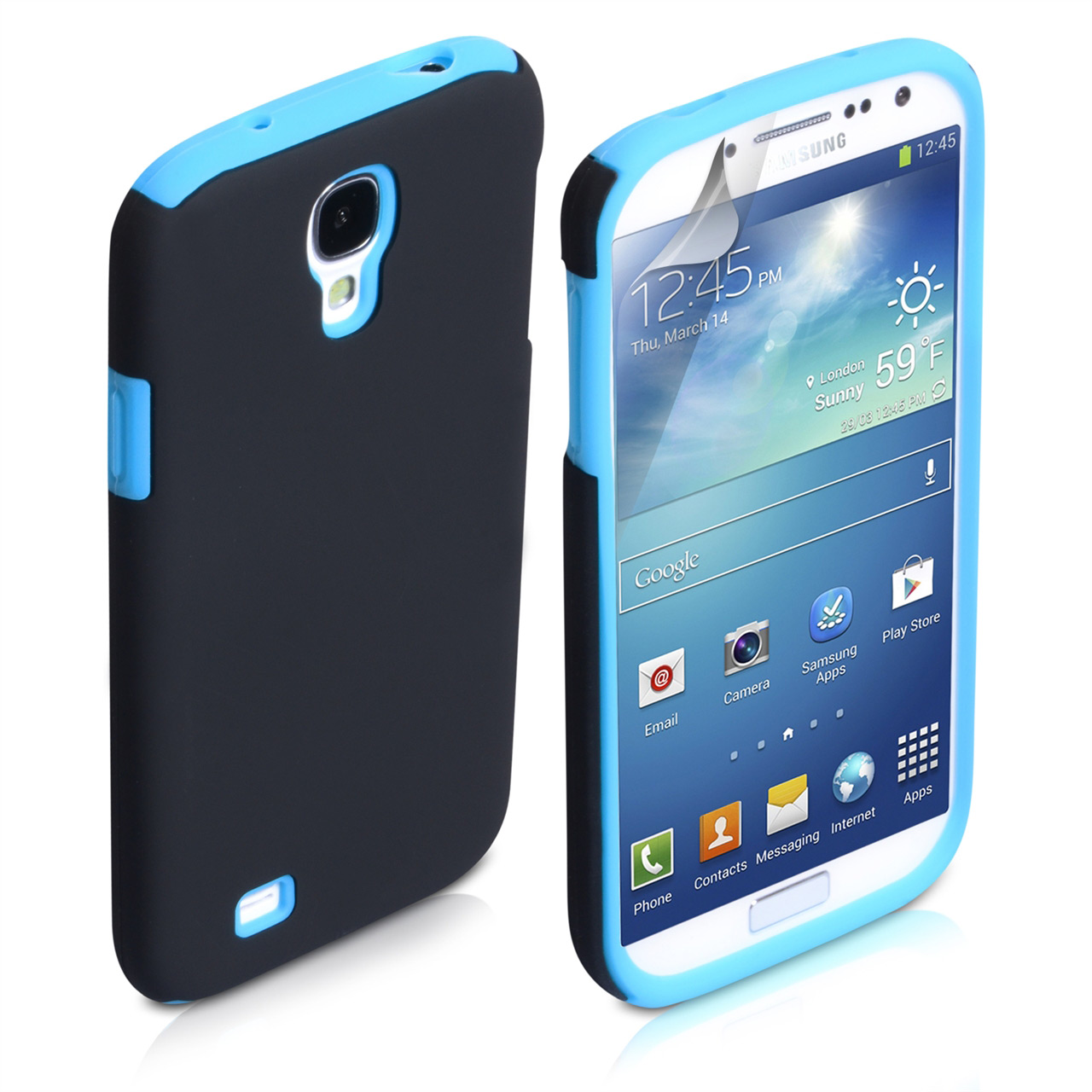 YouSave Accessories Samsung Galaxy S4 Hybrid Combo Case - Blue