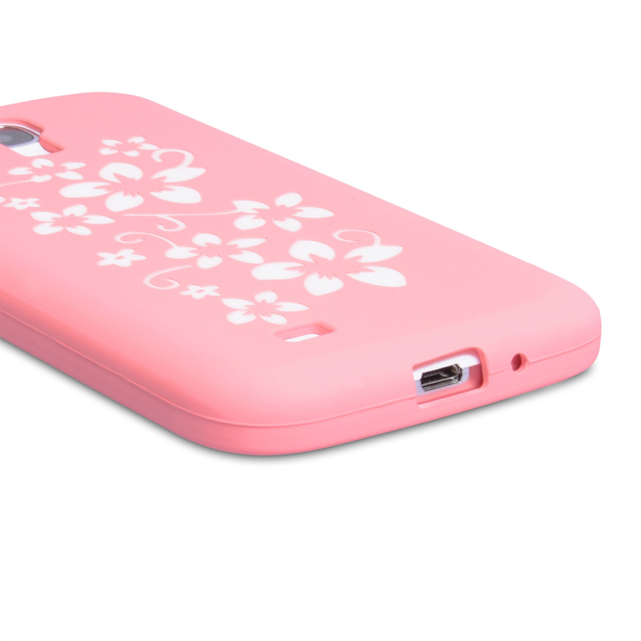 YouSave Accessories Samsung Galaxy S4 Floral Gel Case - Baby Pink