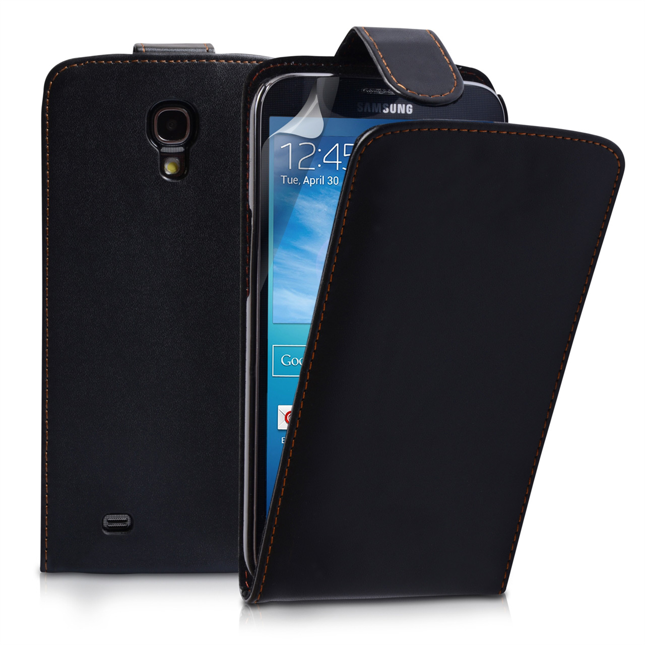 YouSave Samsung Galaxy Mega 6.3 Leather Effect Flip Case - Black