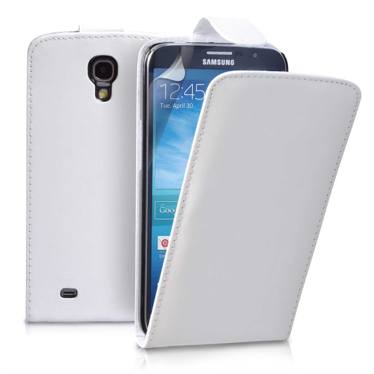 YouSave Samsung Galaxy Mega 6.3 White Leather Effect Flip Case