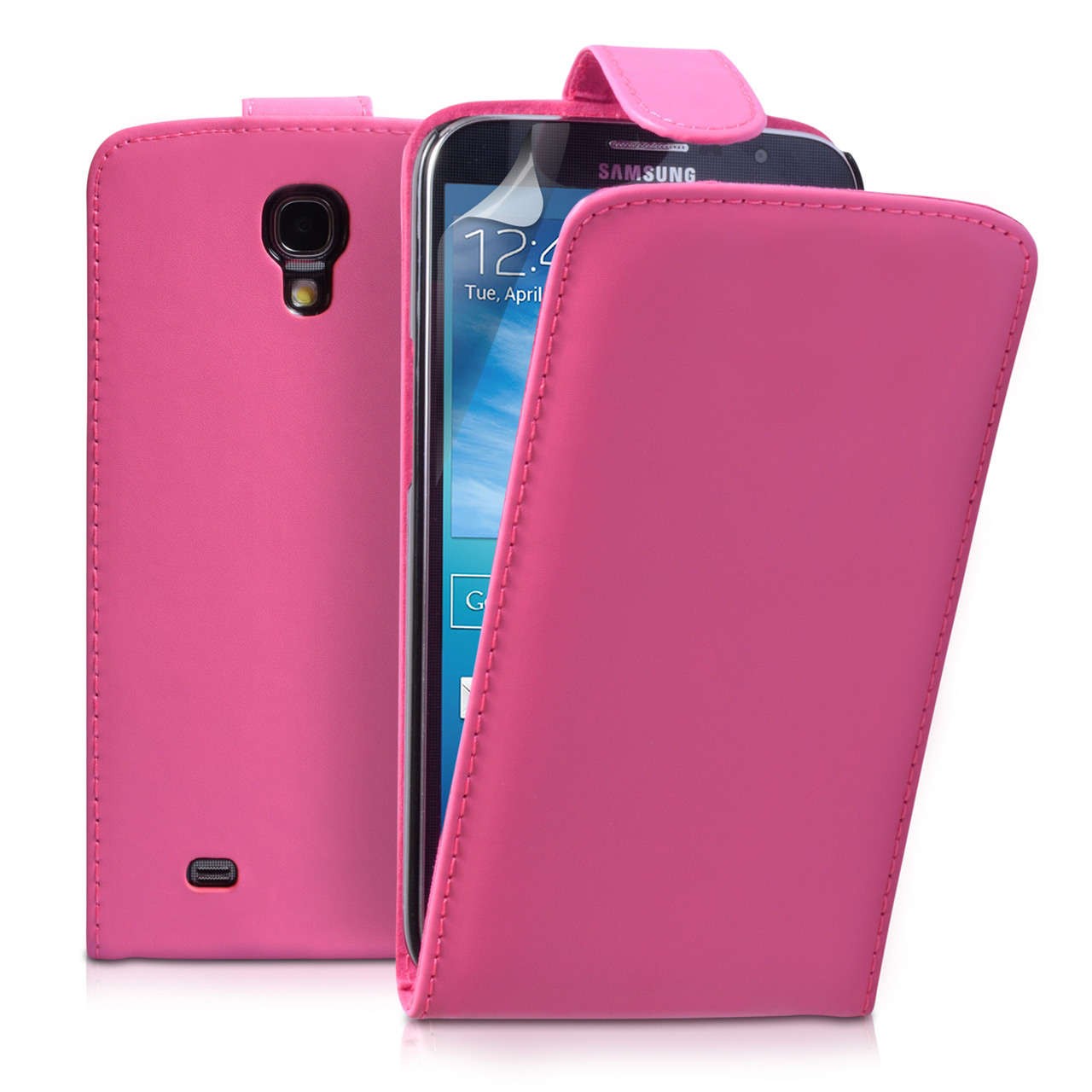 YouSave Samsung Galaxy Mega 6.3 Leather Effect Flip Case - Hot Pink