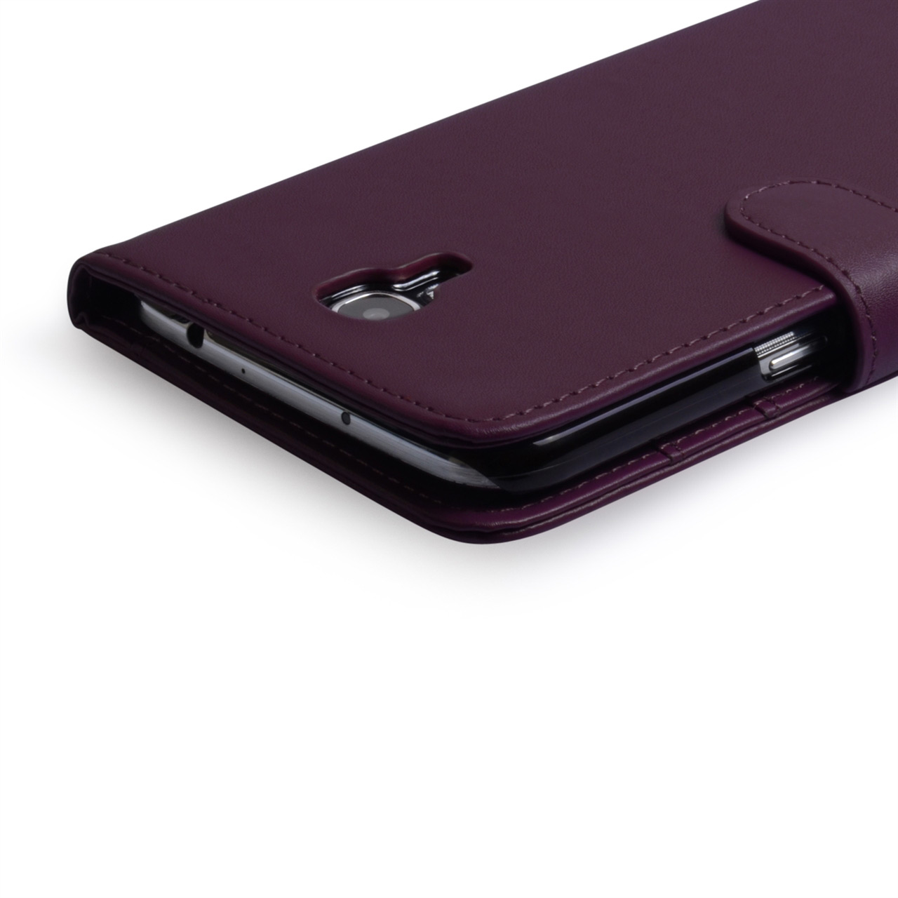 YouSave Samsung Galaxy Mega 6.3 Leather Effect Wallet Case - Purple