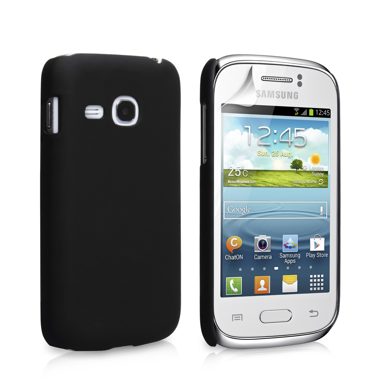 YouSave Accessories Samsung Galaxy Young Black Hybrid Case