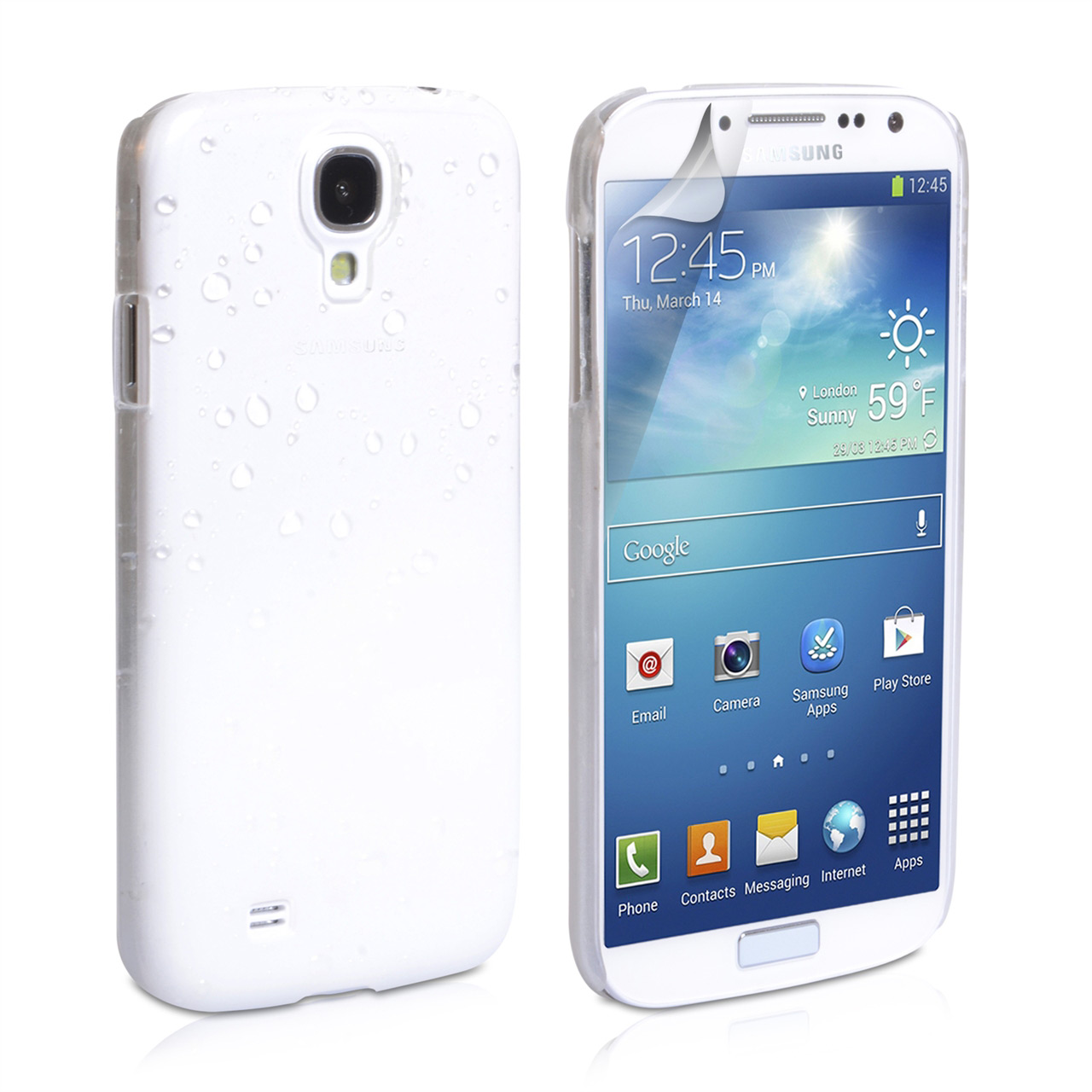 YouSave Accessories Samsung Galaxy S4 Raindrop Hard Case - White/Clear