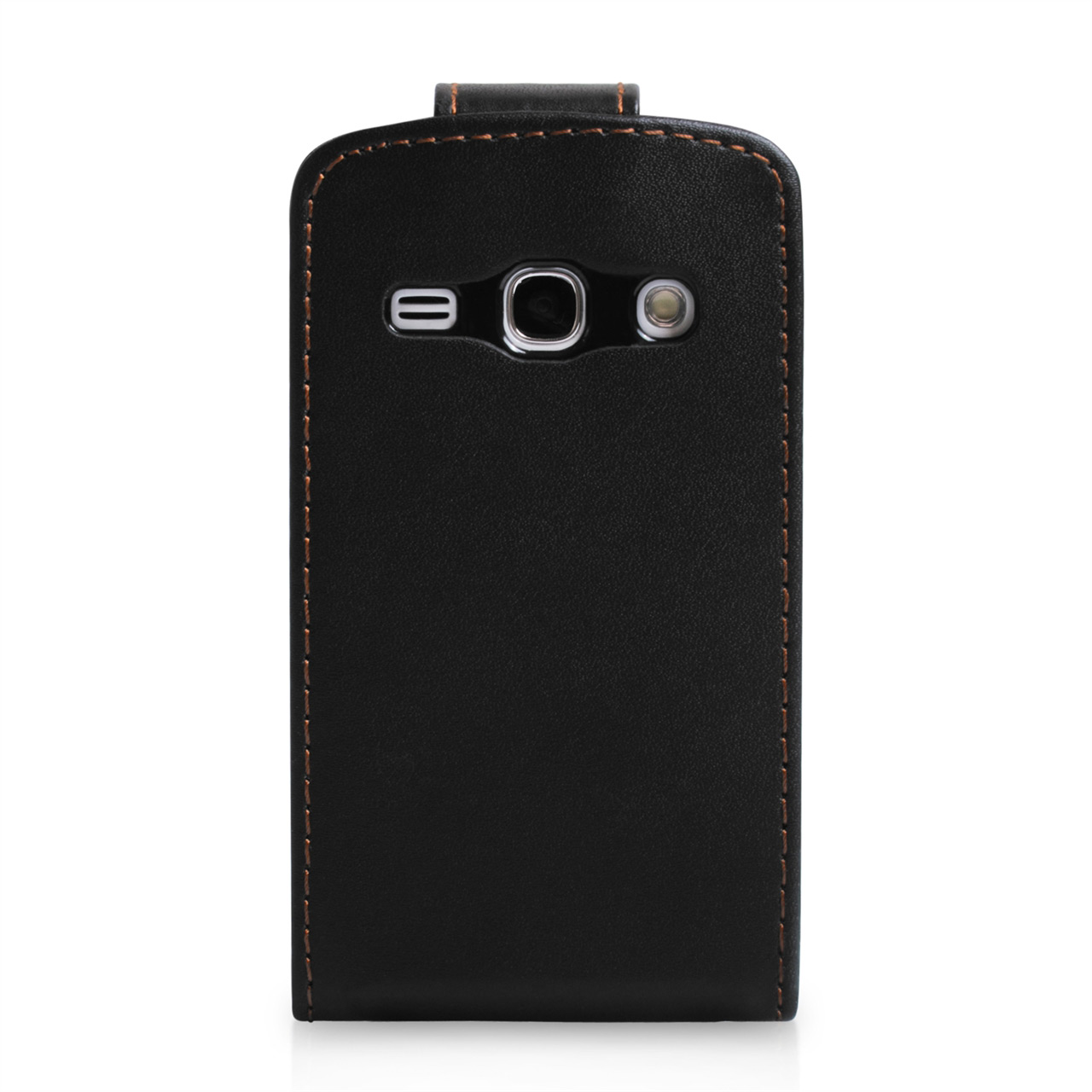 YouSave Samsung Galaxy Fame Leather Effect Flip Case - Black