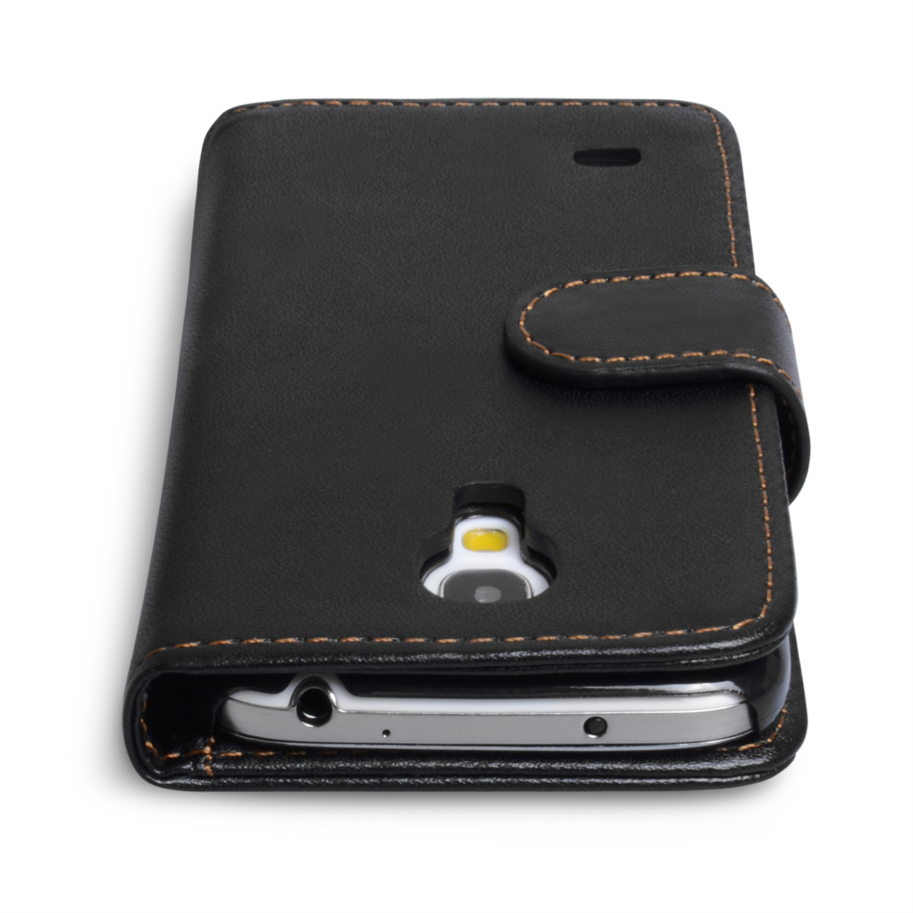 YouSave Samsung Galaxy S4 Mini Leather Effect Wallet Case- Black