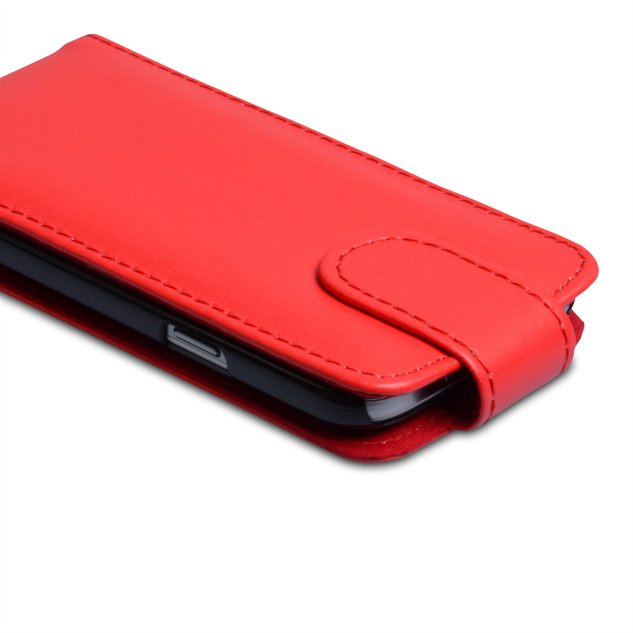 YouSave Samsung Galaxy S4 Mini Red Leather Effect Flip Case