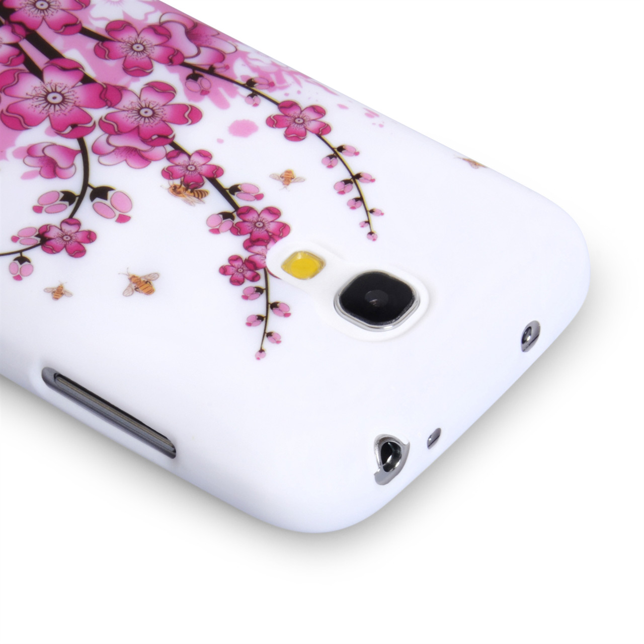 YouSave Samsung Galaxy S4 Mini Floral Bee Silicone Gel Case