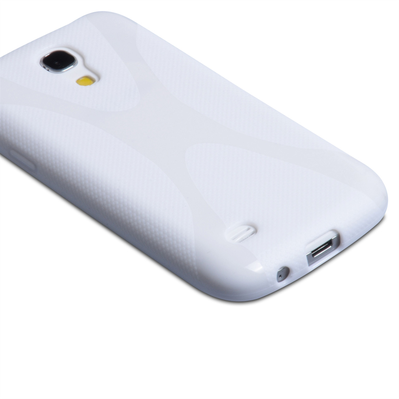 YouSave Accessories Samsung Galaxy S4 Mini White X-Line Gel Case