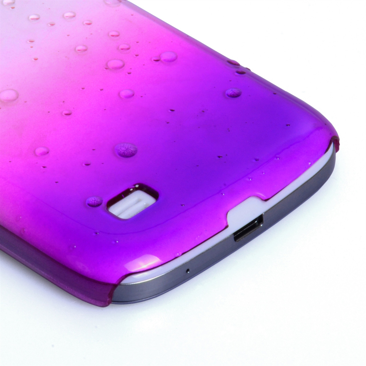 YouSave Accessories Samsung Galaxy S4 Mini Purple Raindrop Hard Case