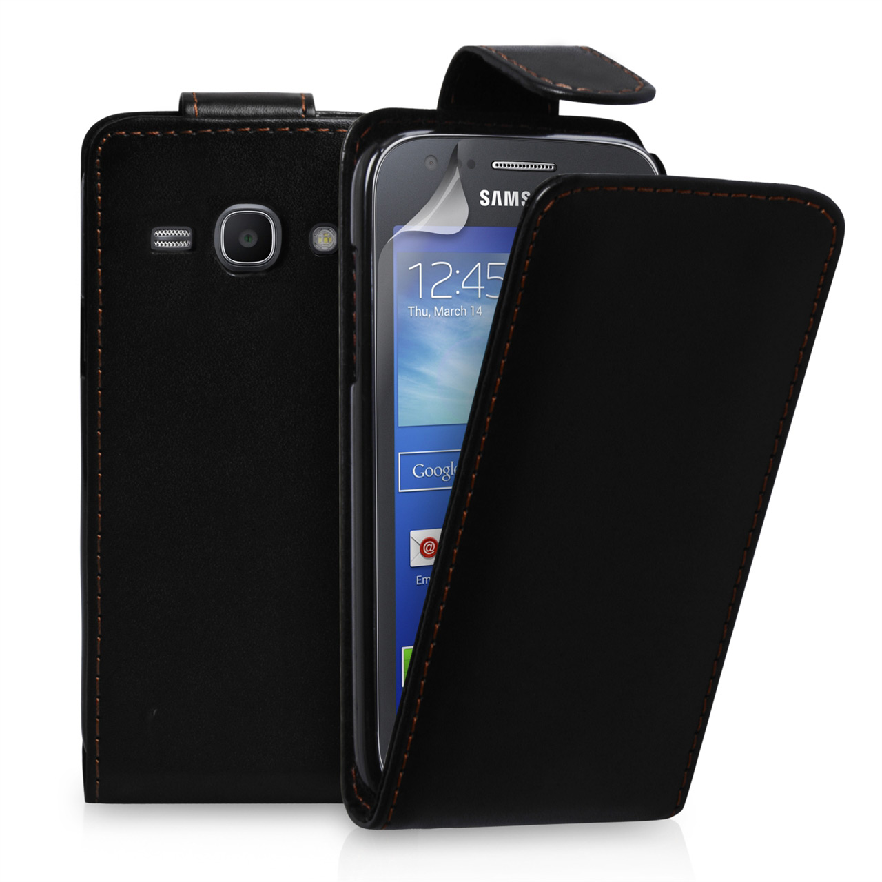 YouSave Samsung Galaxy Ace 3 Leather-Effect Flip Case - Black