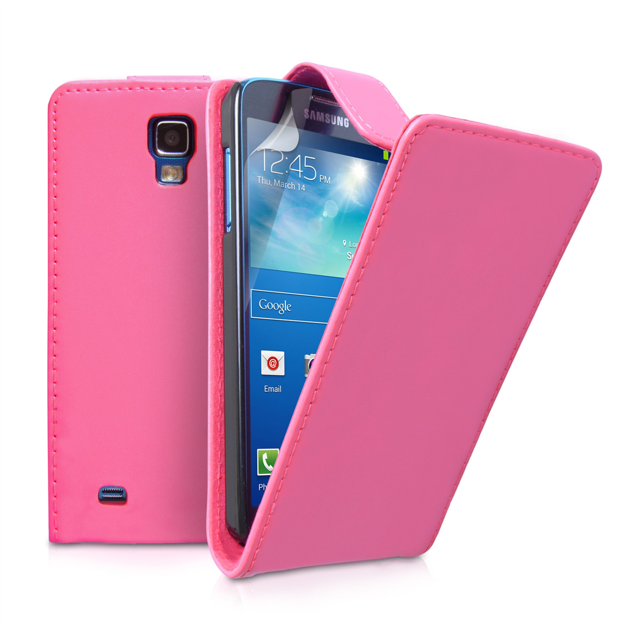 YouSave Samsung Galaxy S4 Active Leather Effect Flip Case - Hot Pink