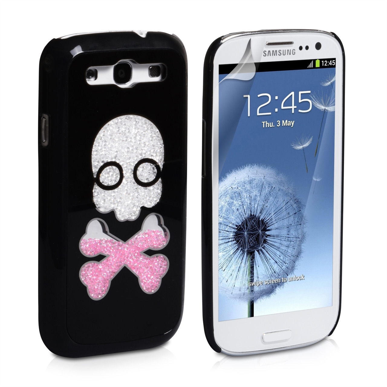 YouSave Accessories Samsung Galaxy S3 Skull Hard Case - Black