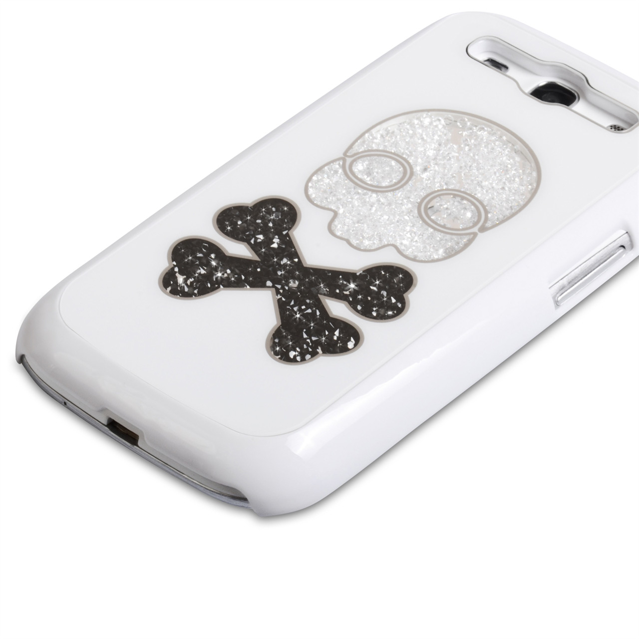 YouSave Accessories Samsung Galaxy S3 Skull Hard Case - White