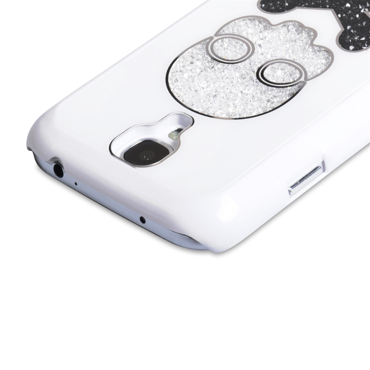 YouSave Accessories Samsung Galaxy S4 Skull Hard Case - White
