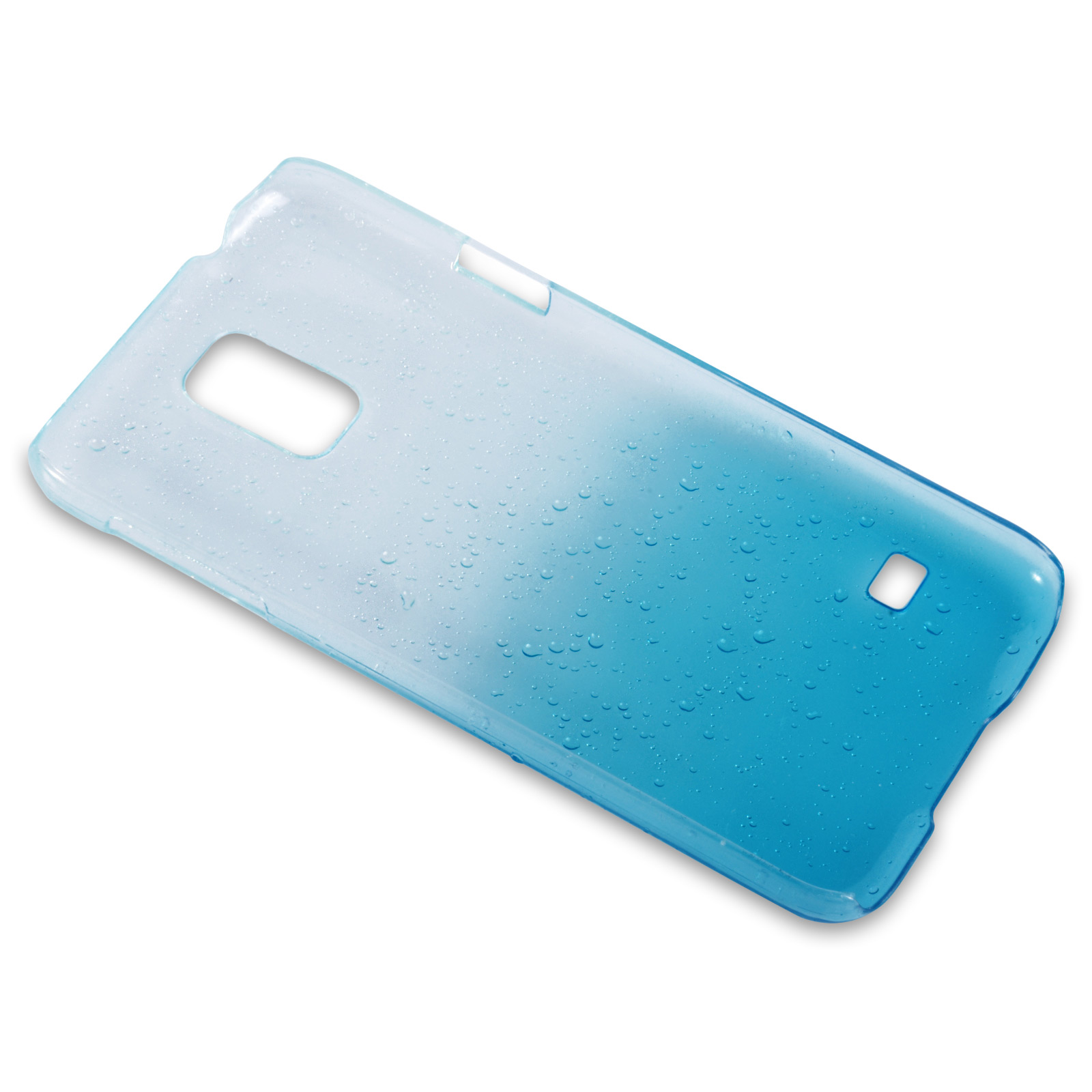 YouSave Accessories Samsung Galaxy S5 Raindrop Hard Case - Blue-Clear
