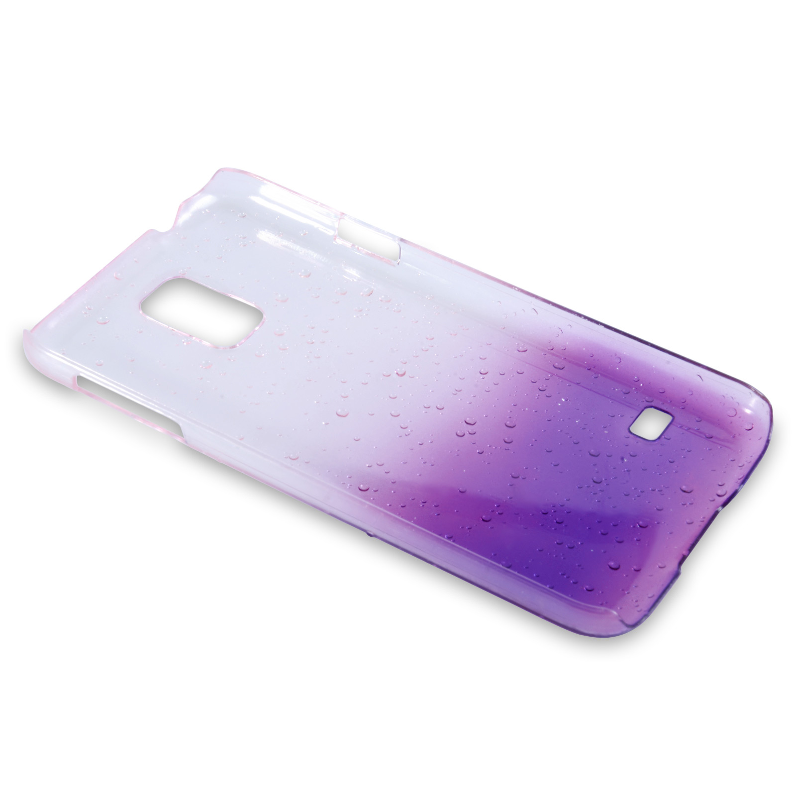 YouSave Samsung Galaxy S5 Raindrop Hard Case - Purple-Clear