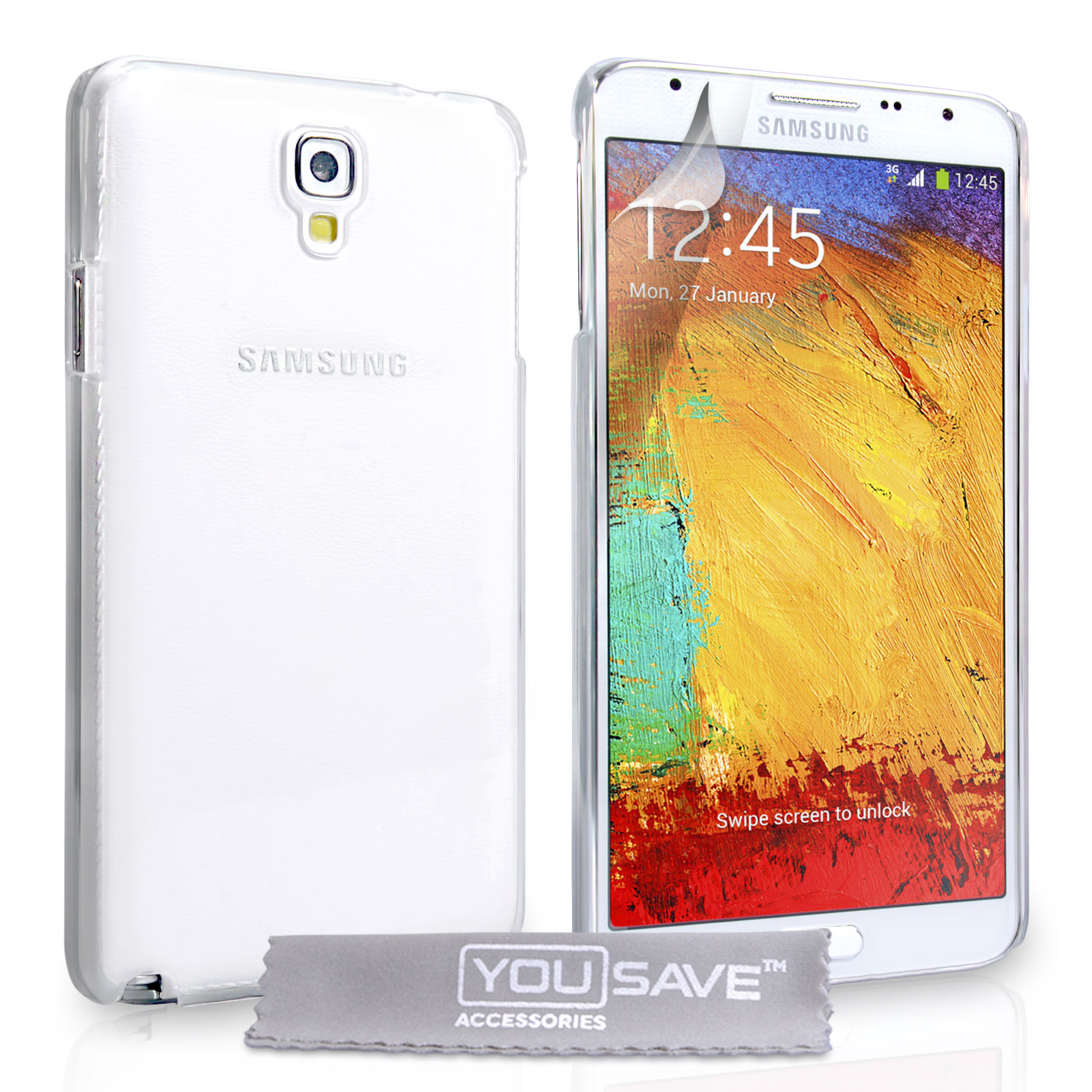 YouSave Samsung Galaxy Note 3 Neo Hard Case - Crystal Clear