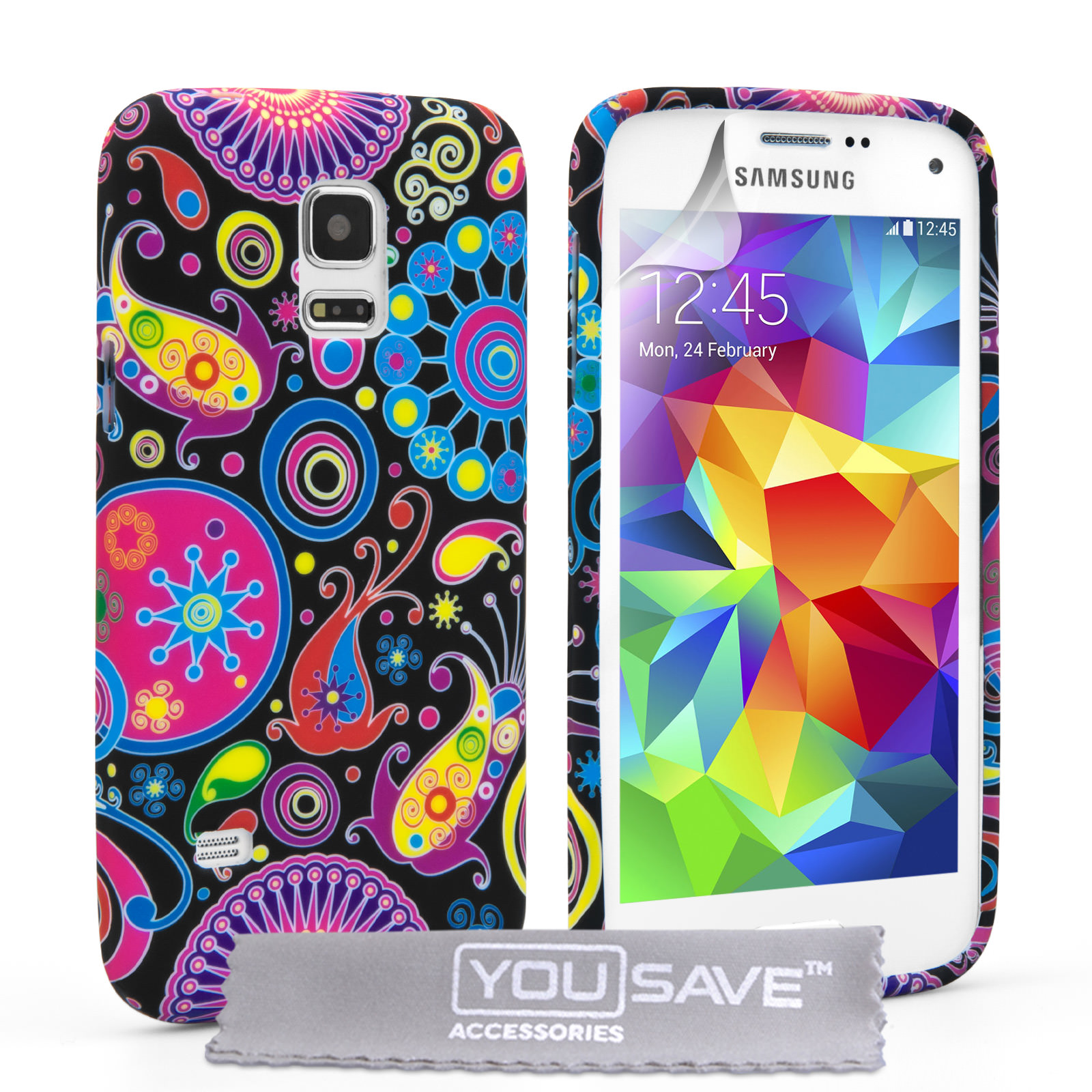 YouSave Accessories Samsung Galaxy S5 Mini Jellyfish Silicone Gel Case