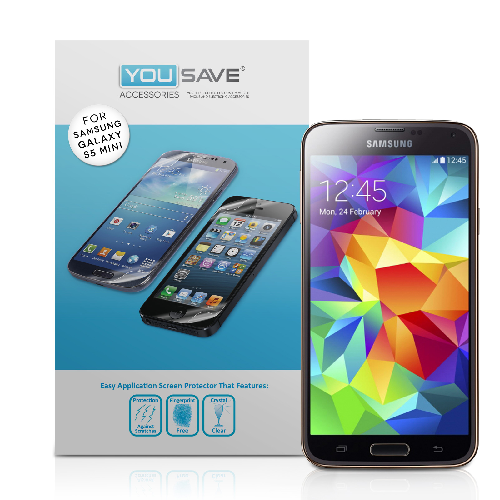 YouSave Accessories Samsung Galaxy S5 Mini Screen Protectors x5