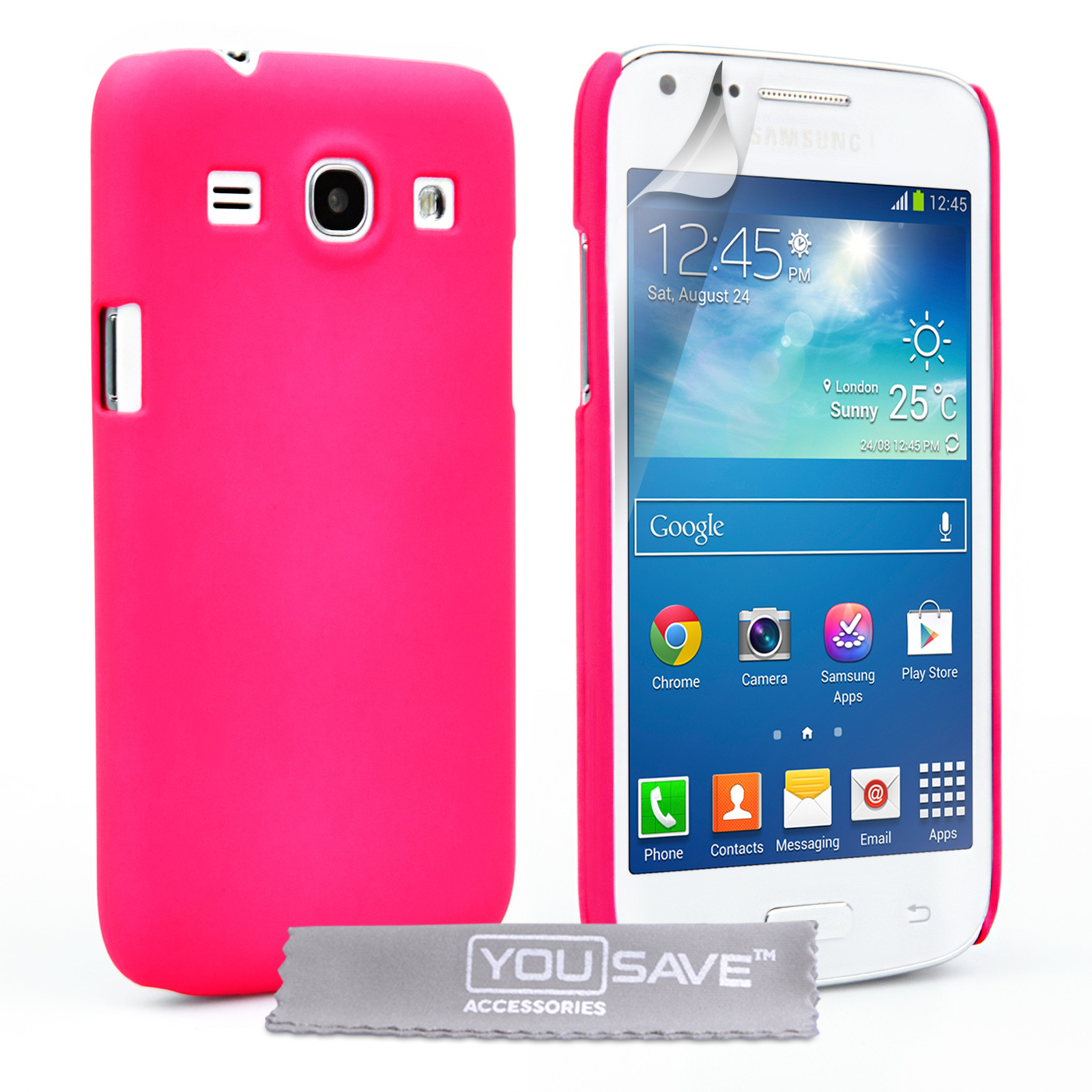 YouSave Samsung Galaxy Core Plus Hard Hybrid Case - Hot Pink