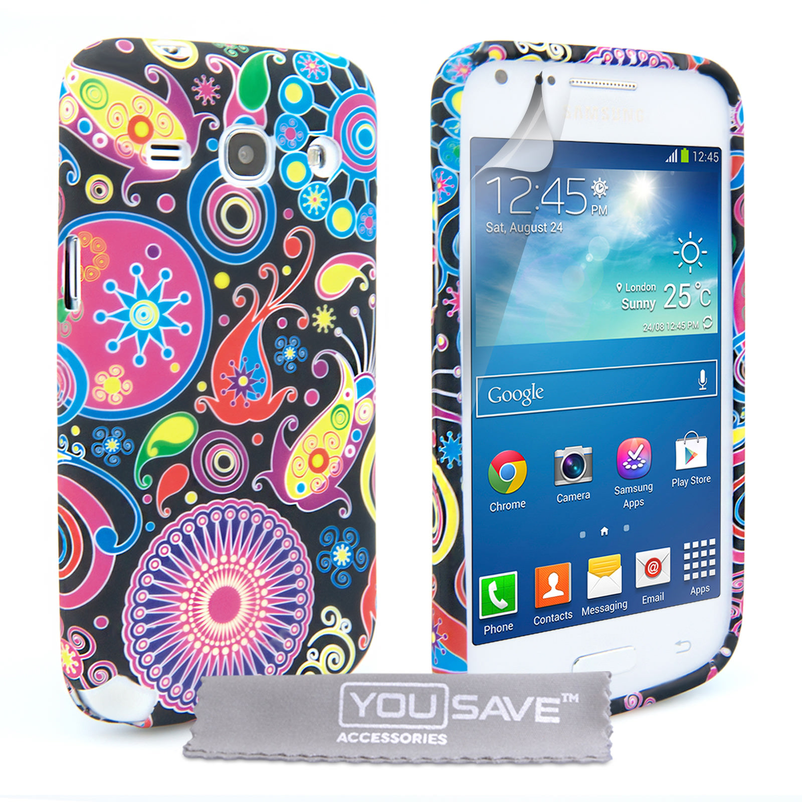 YouSave Samsung Galaxy Core Plus Jellyfish Silicone Gel Case