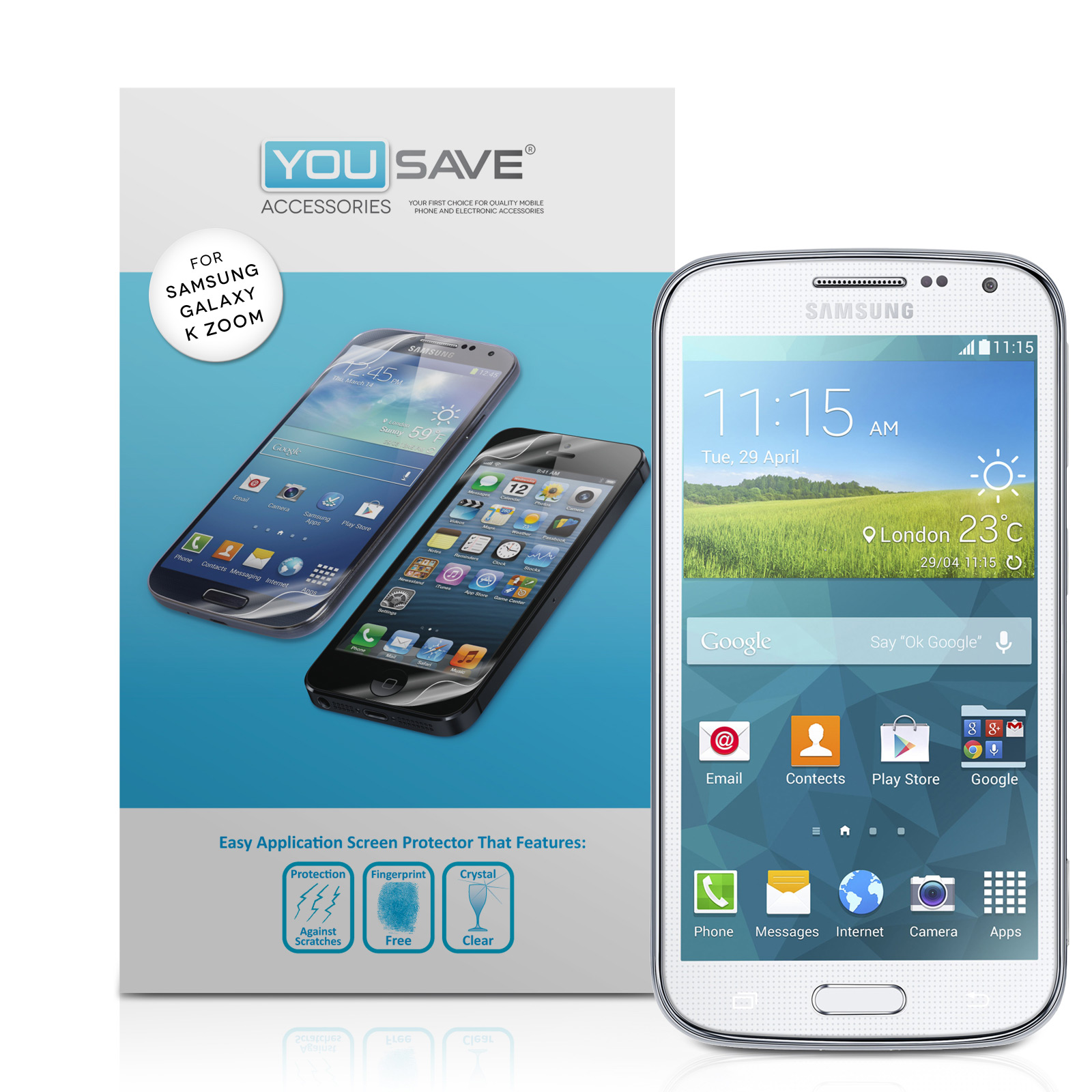 YouSave Accessories Samsung Galaxy Z Koom Screen Protectors x3