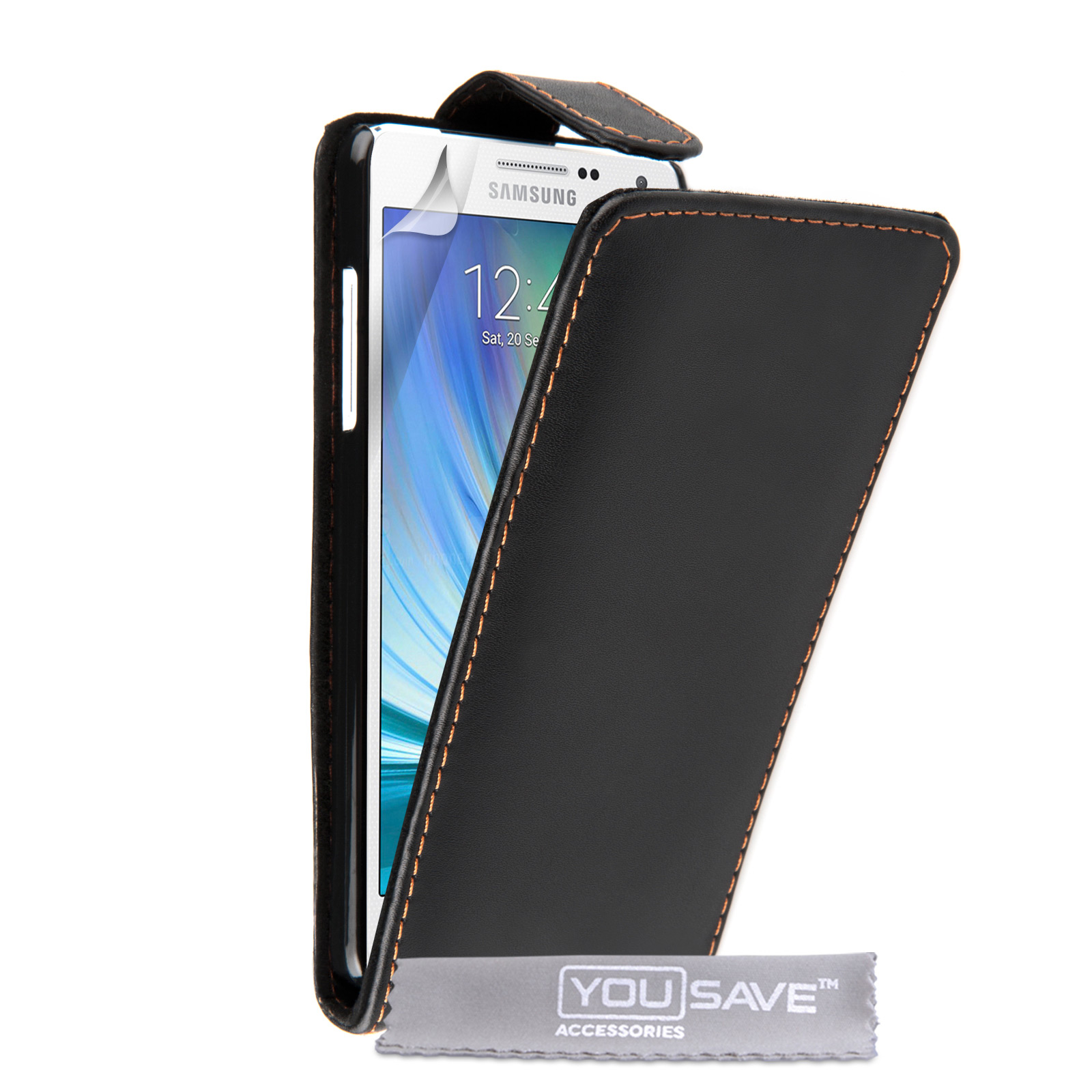 YouSave Accessories Samsung Galaxy A5 Leather-Effect Flip Case - Black
