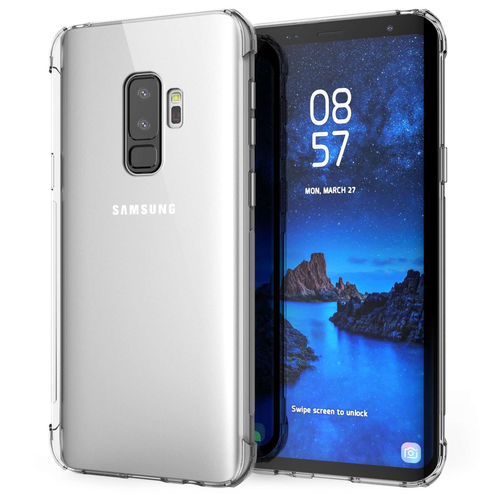 samsung galaxy s9 plus case clear