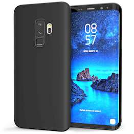 Caseflex Samsung Galaxy S9 Plus Matte TPU Gel Case - Solid Black