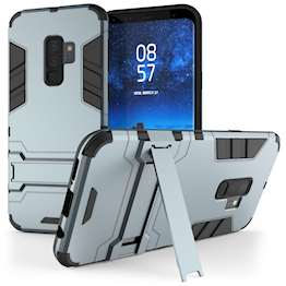 Caseflex Samsung Galaxy S9 Plus Armour Kickstand Case - Steel Blue