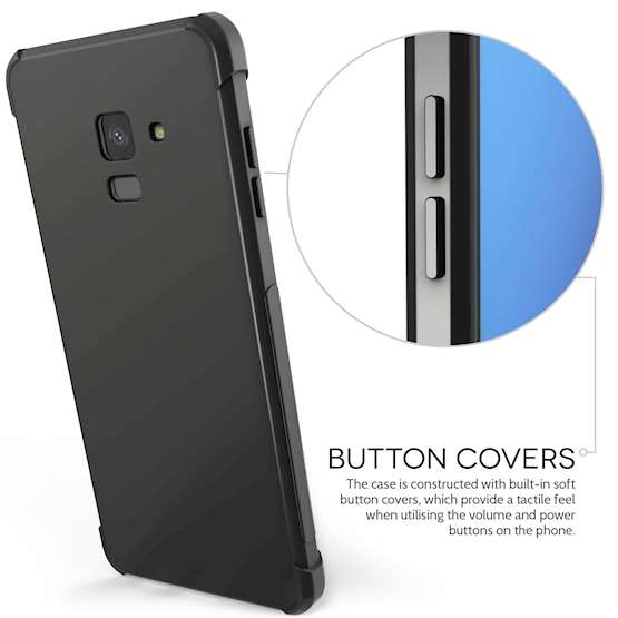 Caseflex Samsung Galaxy A8 (2018) Alpha TPU Gel Case - Black