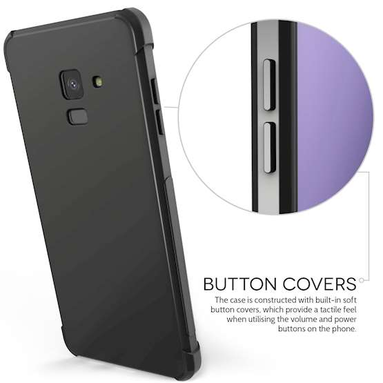 Caseflex Samsung Galaxy A8 Plus (2018) Alpha TPU Gel Case - Black